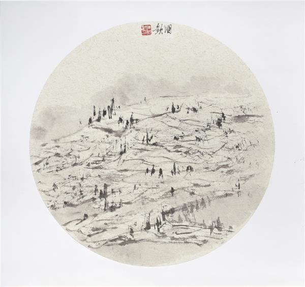 陈国欢《远眺即景》